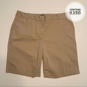 Talbots Khaki Bermuda Shorts